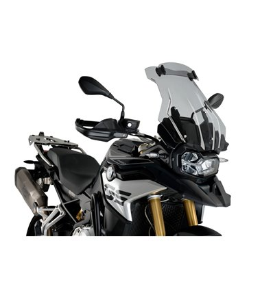 3597H - Puig Touring Plus Windshield w/ Visor - F850GS - Smoke - in-parts