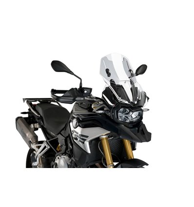 3179W - Puig Adjustable Touring Windshield - F850GS - Smoked - in-parts
