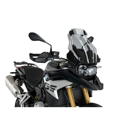 - Puig Clip-On Multi-Adjustable Visor - F850GS (2018) - Smoked - in-parts