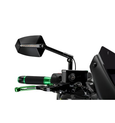 015NN - Puig GTi Rearview Mirror w/ Turn Signal - Right Side - Black - in-parts